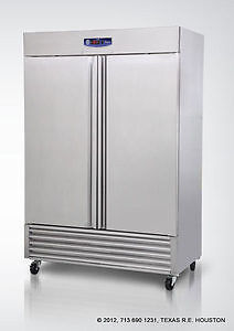 Migali G3 2f Commercial 49 Cu ft Stainless 2 Door Reach in Freezer 2999