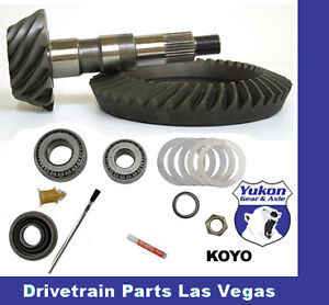 Yukon Ford 9 75 Early Ring And Pinion Gear Set Pinion Install Kit Package 97 99