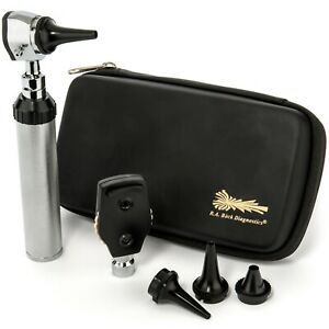 New Ra Bock Diagnostics Professional Opthalmoscope Otoscope Diagnostic Set