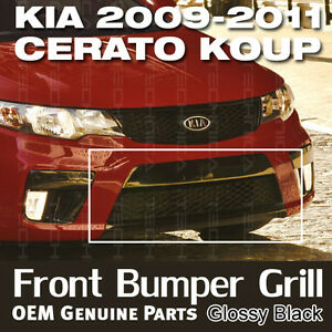 Oem Genuine Parts Front Bumper Grille Glossy Black For Kia 2010 2013 Cerato Koup