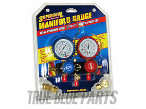 Supercool R 134a Manifold Gauge Kit Aluminum Gauge With 6 Ft Hoses