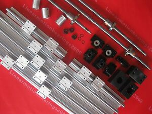 3 Sbr Rail Guide Sets 3 Ball Screws Rm1605 3 Bk bf12 3 Couplers For Cnc