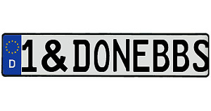 Custom Text Vw European German Car License Plate Tag Bmw Audi Porsche Tessla 3 5