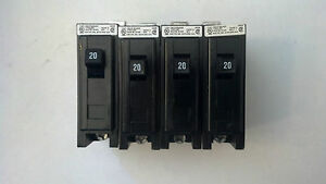 Lot Of 4 New Cutler Hammer Qbhw1020 Circuit Breakers 1 Pole 20 Amp