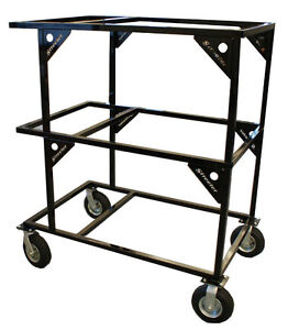 New Streeter Triple Stack Racing Go Kart Cart Service Pit Work Stand Lift Caster