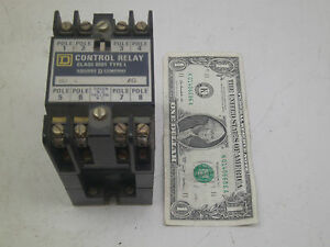 Square D Control Relay 8502 L0 80 Series A Ag Used W Small Chip See Photos