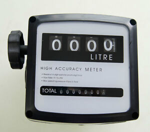 4 Digital Diesel Fuel Oil Flow Meter Counter High Accuracy 1