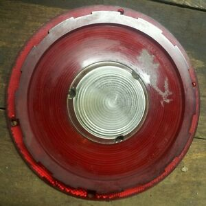 Vintage 1957 Ford Passenger Stop And Tail Lamp Lens