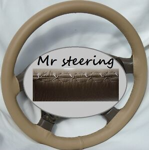 For Toyota Venza 08 12 Real Beige Best Quality Leather Steering Wheel Cover New