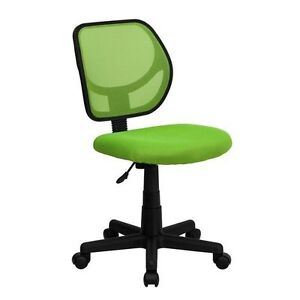 Mid back Green Mesh Task Chair And Computer Chair Home Office School