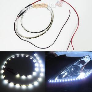 2pcs Waterproof Flexible White 24 Inches 30 Smd Led Side Shine Strip Lights