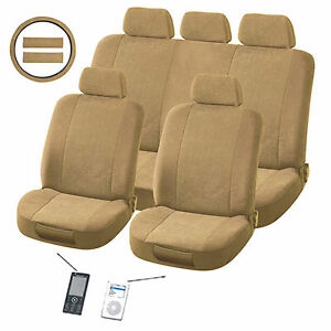 Plush Classic 12 piece Automotive Seat Cover Set