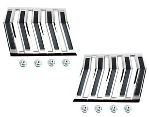 1964 Ford Falcon 1965 Ranchero Deluxe Quarter Panel Chevron Emblems Pair New