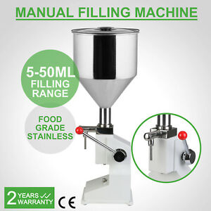 Vevor Manual Filling Machine 5 50ml For Cream Shampoo Cosmetic Liquid Filler