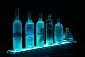 Armana Acrylic New 26 Led Lighted Bar Shelves 2 2 Liquor Bottle Display Shelf