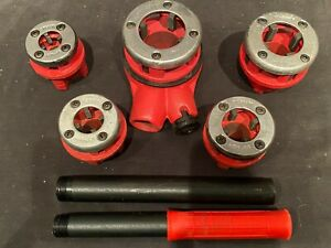 6 Piece Ratcheting Die Bspt Threader Set For Black Ridgid Gas Or Galvanized Pipe