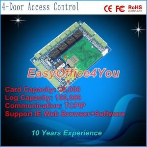 4 door Tcp ip Access Control Board With Ie Browser And Free Software