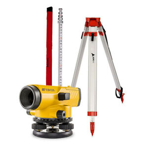 Topcon 1012379 53 At b4a ps 24x Automatic Level Tripod And Rod Included