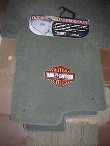 Harley Davidson Bar Shield Carpeted Chevy Gmc Front Floor Mats