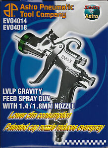Astro Pneumatic Evo4018 Low Volume Low Pressure Lvlp Spray Gun 1 8mm