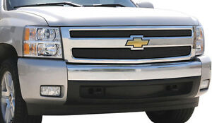 2007 2011 Chevy Silverado Hd 2pc Black Formed Mesh Grille Grill Overlay T Rex