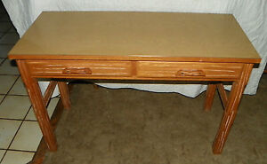 Ranch Oak 2 Drawer Formica Top Desk Sofa Table Dr43