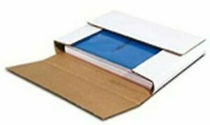 50 78 Rpm Bookfolds 10 25x10 25x1 White Multi Depth Corrugated Book Mailer Box