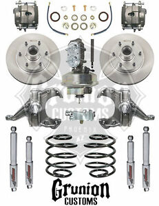 Mcgaughys Chevy C10 1963 64 2 5 3 Drop Kit 6 Lug Front Disc Brakes 9 Booster