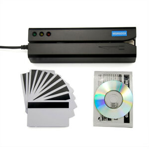 Msre206 Hico Magnetic Stripe Card Reader Writer Encoder Swipe Comp Msrx6 Msr605