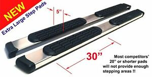 00 06 Tahoe Yukon 1500 Crew Cab 5 Safari Running Boards Nerf Bar Aluminum Pads