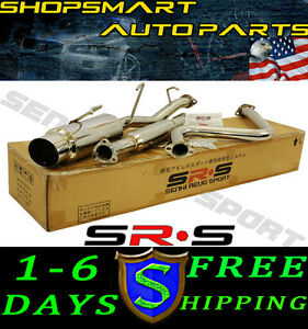 Srs Type r1 Catback Exhaust System Honda Prelude 92 96 Si H22 H23 Bb1 Bb2 92 93