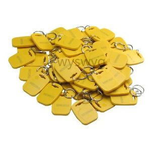 New 100pcs 125khz Em Rfid Proximity Tag Token Keyfobs A Part Of Access Control