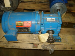 Reliance Right Angle Gear Motor 1 2hp Fr fb56c 1725rpm 208 230 460v 3ph