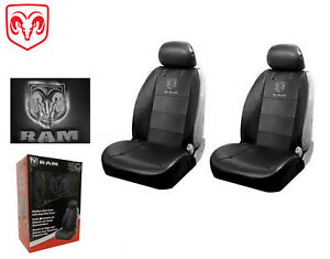 Dodge Ram Front Syn Leather Seat Covers W Logo Fits All Dodge Rams 1994 2016