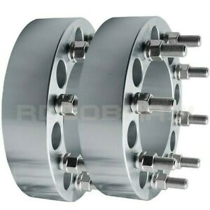 2pc 8 Lug Wheel Spacers 8x6 5 To 8x6 5 9 16 Thread Billet Adapter Fast Shipping