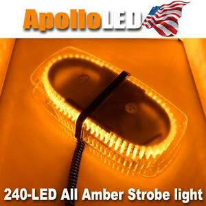 Amber Led Warning Emergency Truck Car 240 led Snow Plow Safety Strobe Light Bar