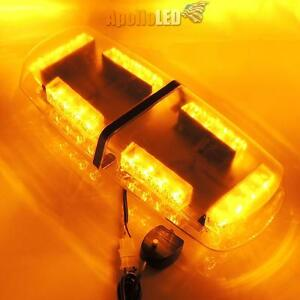New All Amber Led Heavy Duty Snow Plow Safety Alert Warning Strobe Light Bar F2