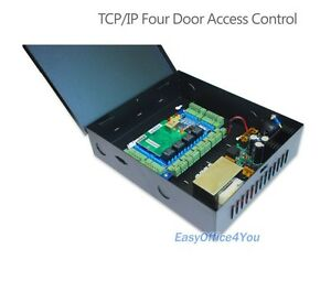 Standalone Tcp ip 4 Door Access Control Board power Supply Box Security System