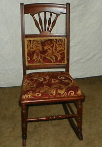Cherry Sewing Rocker Rocking Chair R147