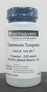 Cadmium Tungstate Powder 325 Mesh 99 99 metals Basis 10g