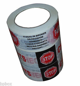 12 X 2 X 110 Yds Sealing Security Tape Rolls Printed