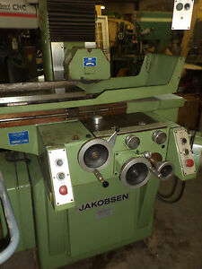 18 X 8 Jakobsen Sj 25 Surface Grinder With Hydraulic Automatic Downfeed