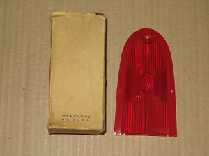 Vintage Stop Tail Lamp Lens Fits 59 Plymouth Glo Brite 381