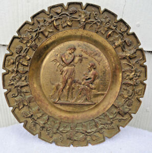 Antique Bradley And Hubbard Ci Gold Gilt Tray Charger C Late 1800 S Vgc