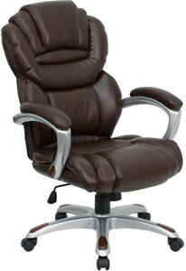 Brown Leather High Back Executive Computer Office Desk Chair