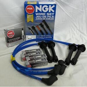 Honda Crv Integra Ngk Japan Blue Spark Plug Wire Set With Plugs He56 And Zfr6f11