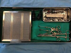 Ear Myringotomy Medical Surgical Instruments sterilization Case