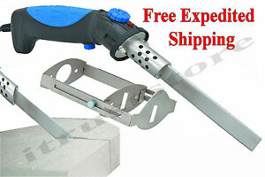 New Electric Hot Knife Melt Gun Cutter Tool Foam Plastic Nylon Rope Icf Eifs