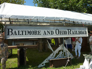 C1900 15 Baltimore Ohio Railroad Wooden Sign Single Sided 12 X 22 5 X 2 5