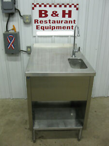 Dq 24 X 36 Stainless One Bowl Dip Well Sink Milk Shake Flurry Ice Cream Table